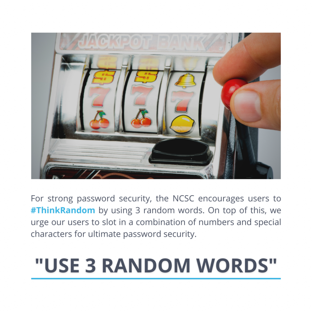 Use three random words to increase your password security